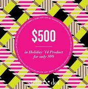 $500 product credit for $99 Coupon - Qualified with $2000 (retail) combined sales for July, August, Sept