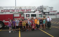 Group Picture With Fire Truck