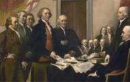 John Adams presents Declaration of Independence to Congress.
