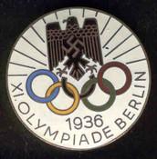 Photo of the emblem fot the Nazi Olmpics