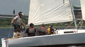 Dissabled vetereans learn how to sail