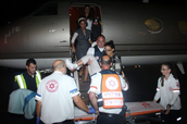 Yoav Bender and other trevelrs being rescued by Israel.