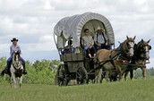 Wagon Traveling Westward