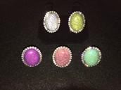 Adjustable Pearl and Diamond Beaded Rings