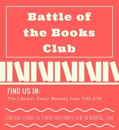 Battle of the Books Club-- FINALLY!