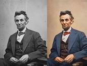 אברהם לינקולן בכיסאו