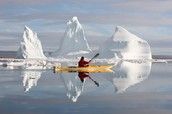 Kayaking in the Arctic