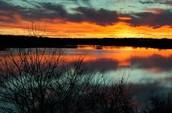 Sunset of Brushy Creek