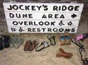 A sign from Jockey's Ridge