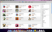 Apple iTunes App Store on a MAC