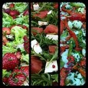 Variedade de Saladas Ricas e Saladas Clássicas
