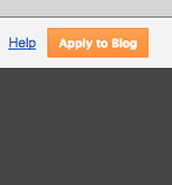 "click ""apply to blog"" when finished designing"
