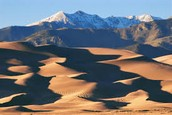 How wind, water, and ice help create or form sand dunes