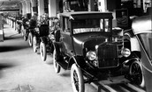 Model T on the assembly line