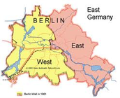 Map of Berlin and the wall