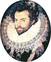 Sir Walter Raleigh and Queen Elizabeth l
