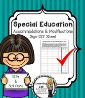 IEP Review and Sign-Off; Testing Accommodations
