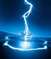 lightning passing through water
