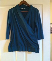 52. Rickis XL, Crossover Sweater, Turquoise Green