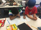 Working together to design a classroom where they will go
