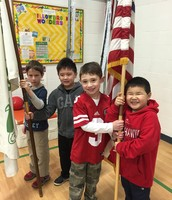 1st Grade Flag Raisers!