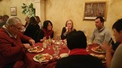 Dinner with friends and colleagues