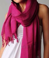 Tengo una bufanda de rosa
