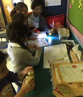 More fun with science in Mrs. Smith's classroom with Ms. Nazario's students!