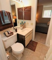 Upstairs Townhome Bathroom