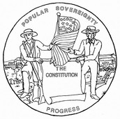 When new states came into the union, popular sovereignty was used to determine if the state would be a free state or a slave state.