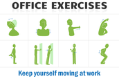 What are some office exercise