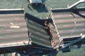 Collapsed section of the bay bridge