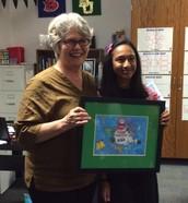 Winner of CISD's Holiday Card!!!
