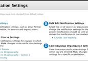 Blackboard-  Notification Settings