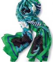 Union Square Scarf - Spring Green Ikat $59