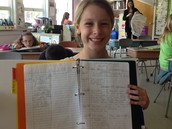 Evelyn showing off her tracking for interesting facts in nonfiction!