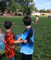 Andrew and Daire on Field Day