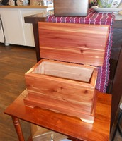 P.S. Creations out of Chico has created many boxes. This one is all cedar!