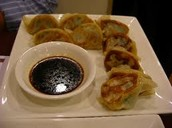 Followed by our pan fried pulled pork dumplings with dipping sauces