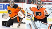 The Flyers' 2 starting goalies are Steve Mason (left) and Michal Neuvirth (right)