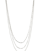 "Libby Layering Necklace, silver - 3 strands, 35"" long - SOLD!!"