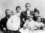Roosevelt with his children