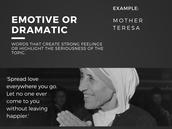 Emotive or Dramatic