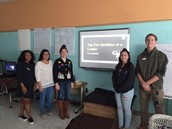 CHS Leadership Class talking to Ballard's class