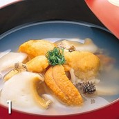 Ichigoni aka Strawberry Stew (Sea urchin and abalone stew)