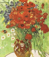 Red Poppies and Daisies