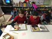 partner reading about Thomas Edison
