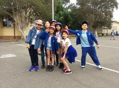 Picture taken at school getting ready to dance hip hop '1, 2 step' by Ciara