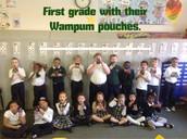 Wampum pouches.
