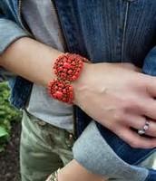 Sardinia Bracelet - Red  (NIB)